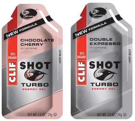 CLIF SHOT GEL--Double Espresso Turbo with Caffeine -BOX OF 24